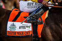 ELMONT, NY - JUNE 10: Irish War Cry and Rajiv Maragh at the Belmont Stakes at Belmont Park on June 10, 2017 in Elmont, New York. (Photo by Alex Evers/Eclipse Sportswire/Getty Images)