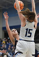 Heritage Aleyshka Pabón (31) shoots, Friday, February 7, 2020 during a basketball game at Wildcat Arena at Har-Ber High School in Springdale. Check out nwaonline.com/prepbball/ for today's photo gallery.<br /> (NWA Democrat-Gazette/Charlie Kaijo)