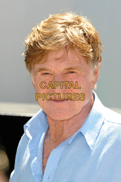Robert Redford.'All is Lost' photocall at 66th Cannes Film Festival, France..22nd May 2013.headshot portrait blue shirt.CAP/PL.©Phil Loftus/Capital Pictures.