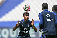 Presnel Kimpembe (PSG) of France during the France National Team Training session ahead of the match with England tomorrow evening at Stade de France, Paris, France on 12 June 2017. Photo by David Horn / PRiME Media Images.