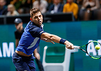 Rotterdam, The Netherlands, 9 Februari 2020, ABNAMRO World Tennis Tournament, Ahoy,  Filip Krajinovic (SRB)<br /> Photo: www.tennisimages.com