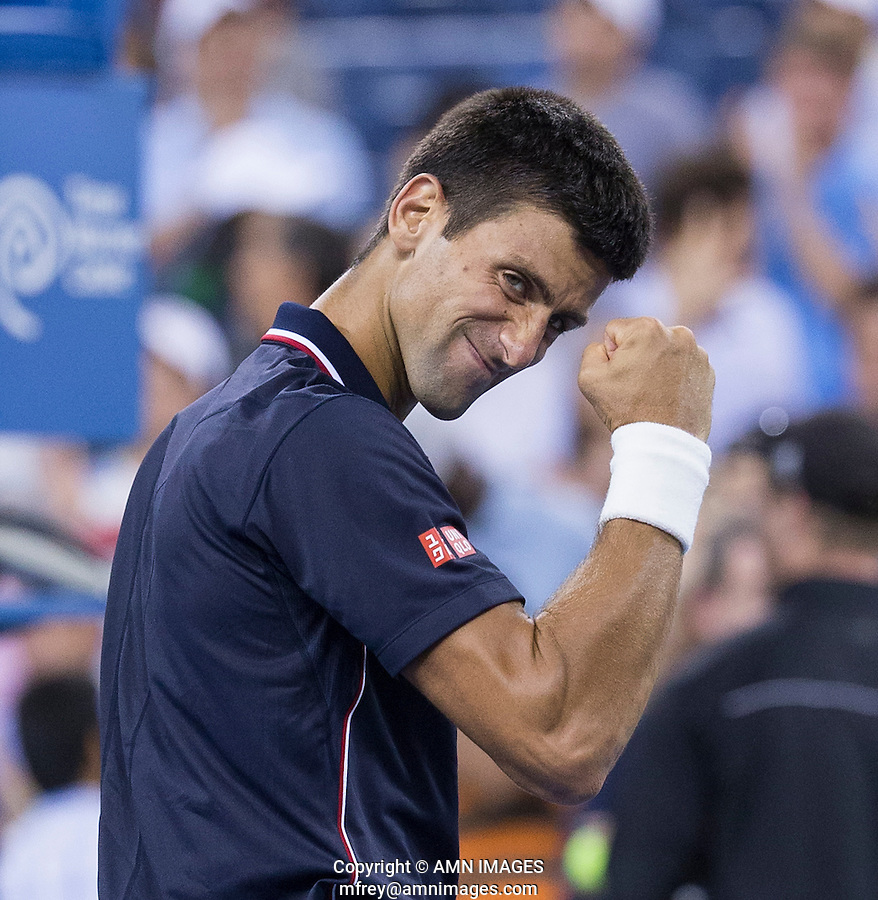 NOVAK DJOKOVIC (SRB)<br /> The US Open Tennis Championships 2014 - USTA Billie Jean King National Tennis Centre -  Flushing - New York - USA -   ATP - ITF -WTA  2014  - Grand Slam - USA  <br /> <br /> 3rd September 2014 <br /> <br /> &copy; AMN IMAGES