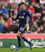 Dele Alli of Tottenham in action during the EPL - Premier League match between Chelsea and West Ham United at Stamford Bridge, London, England on 8 April 2018. Photo by PRiME Media Images.