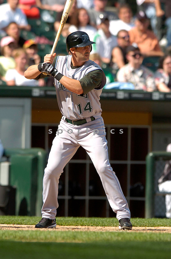 GREG NORTON, of the Tampa Bay Devil Rays , in action during the  Devil Rays  game against the Chicago White Sox  in Chicago, IL, on May 27,  2007...Devil Rays  win 11-5...DAVID DUROCHIK / SPORTPICS.