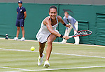 Mcc0038137 . Daily Telegraph..Wimbledon Day 3..British Heather Watson is through to the 3rd round after beating Jamie Lee Hampton in straight sets on  Court 2 at Wimbledon 2012...26 June 2012