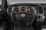 Steering wheel view of a 2010 Toyota Tundra Double Cab 2WD