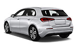 Car pictures of rear three quarter view of 2019 Mercedes Benz A-Class Progressive 5 Door Hatchback Angular Rear