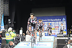 Team Sunweb presented to the crowd before the start of the 60th edition of the Record Bank E3 Harelbeke 2017, Flanders, Belgium. 24th March 2017.<br /> Picture: Eoin Clarke | Cyclefile<br /> <br /> <br /> All photos usage must carry mandatory copyright credit (&copy; Cyclefile | Eoin Clarke)