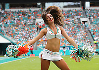 Miami Dolphins Cheerleader Holly Warden from Great Britain Makes her home Debut  on the 25th September 2016 at  the Hard Rock Stadium Miami Florida
