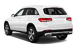 Car pictures of rear three quarter view of 2018 Mercedes Benz GLC-Class GLC300 5 Door SUV Angular Rear