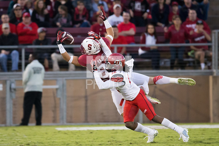 Stanford, CA -- November 15, 2014:  Stanford Cardinal vs. Utah Utes at Stanford Stadium. The Utes defeated Stanford 20-17 in double overtime.