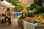 Farmers market produce on the south park blocks in Portland, OR.