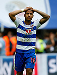 Liam Moore of Reading reacts after missing a penalty during the SkyBet Championship Play Off Final match at the Wembley Stadium, England. Picture date: May 29th, 2017.Picture credit should read: Matt McNulty/Sportimage