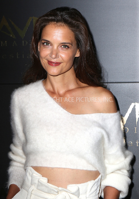 www.acepixs.com<br /> <br /> September 8 2016, New York City<br /> <br /> Actress Katie Holmes attended the Grand Opening of Greek restaurant Avra Madison on September 8 2016 in New York City<br /> <br /> By Line: Nancy Rivera/ACE Pictures<br /> <br /> <br /> ACE Pictures Inc<br /> Tel: 6467670430<br /> Email: info@acepixs.com<br /> www.acepixs.com