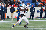 Annapolis, MD - DEC 28, 2017: Virginia Cavaliers wide receiver Doni Dowling (5) has the ball cannot bring in a pass during game between Virginia and Navy at the Military Bowl presented by Northrop Grunman at Navy-Marine Corps Memorial Stadium Annapolis, MD. (Photo by Phil Peters/Media Images International)