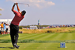 30 August 2009: Steve Marino tees off on the 2nd hole during the final round of The Barclays PGA Playoffs at Liberty National Golf Course in Jersey City, New Jersey.