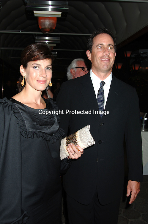 "Jessica Seinfeld and Jerry Seinfeld..arriving for the Broadway Opening Night Party  of ""Martin Short: Fame Becomes Me"" on August 17, 2006 at The Tavern on The Green.  ..Robin Platzer. Twin Images"