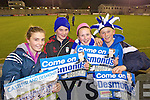 AMy Duffin, Paddy Lath, Nadine Doyle and Aidan Mangan Castleisland Desmonds fans at the Celebrity Bainisteoir final at Parnell park on Friday night.
