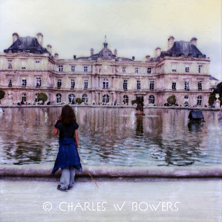 Luxembourg Gardens continues  to welcome visitors of all ages. Parisians are happy to stroll the grounds or just sit and people watch.<br /> <br /> -Limited Edition of 50 Prints