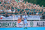 Krefeld, Germany, May 19: During the Final4 Gold Medal fieldhockey match between Uhlenhorst Muelheim and Mannheimer HC on May 19, 2019 at Gerd-Wellen Hockeyanlage in Krefeld, Germany. (worldsportpics Copyright Dirk Markgraf) *** Maximilian Neumann #24 of Mannheimer HC