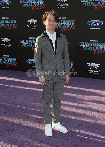 "HOLLYWOOD, CA - April 19: Wyatt Oleff, At Premiere Of Disney And Marvel's ""Guardians Of The Galaxy Vol. 2"" At The Dolby Theatre  In California on April 19, 2017. Credit: FS/MediaPunch"