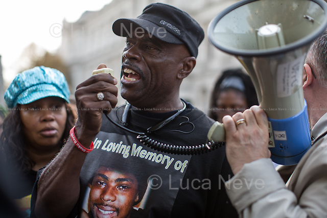 Cephus 'Uncle Bobby' Johnson (Uncle of Oscar Grant killed by police in the US and co-founder of the &quot;Love Not Blood Campaign&quot;).<br />