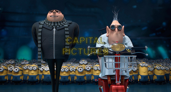 GRU (voice of Steve Carell) &amp; DR. NEFARIO (voice of Russell Brand)<br /> in Despicable Me 2 (2013) <br /> *Filmstill - Editorial Use Only*<br /> CAP/FB<br /> Supplied by Capital Pictures