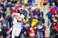 College Park, MD - NOV 11, 2017: Michigan Wolverines tight end Zach Gentry (83) is wide open for a touchdown during game between Maryland and Michigan at Capital One Field at Maryland Stadium in College Park, MD. (Photo by Phil Peters/Media Images International)