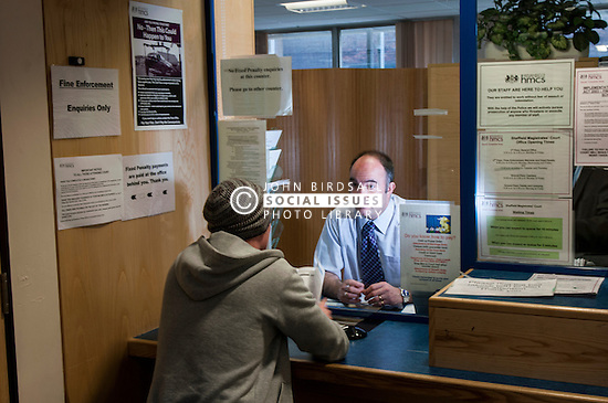 Paying a fine at Sheffield Magistrates' Court