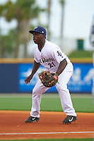Pensacola Blue Wahoos first baseman Marquez Smith (21) during the second game of a double header against the Biloxi Shuckers on April 26, 2015 at Pensacola Bayfront Stadium in Pensacola, Florida.  Pensacola defeated Biloxi 2-1.  (Mike Janes/Four Seam Images)