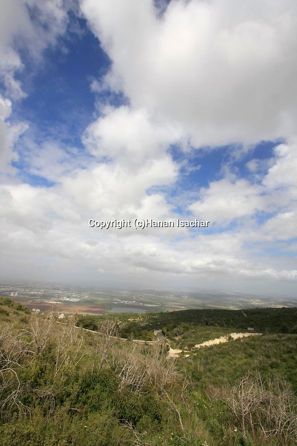 Israel, Mount Carmel. A view of Haifa bay