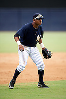 GCL Yankees Jorge Alcantara #19 during a Gulf Coast League game against the GCL Phillies at Legends Field on July 17, 2012 in Tampa, Florida.  GCL Phillies defeated the GCL Yankees 4-2.  (Mike Janes/Four Seam Images)