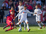 Real Salt Lake forward Luis Silva (20) comes from behind to steal the ball from Los Angeles FC midfielder Benny Feilhaber (33) in the second half Saturday, March 10, 2018, during the Major League Soccer game at Rio Tiinto Stadium in Sandy, Utah. LAFC beat RSL 5-1. (© 2018 Douglas C. Pizac)