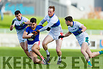 Mikey Geaney, Mark Ashe and Paul Geaney Dingle in action against Jack Sherwood East Kerry in the Semi Final of the Kerry Senior Football Championship between Dingle and East Kerry at Austin Stack Park on Sunday.
