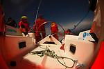 "I have been kindly invited by Jean Luc Esplaas onboard his Archambault 40 ""41 Sud Electropac"" for the 320 nautical miles bi-annual classic ""Beneteau Lagoon Cup Noumea (New Caledonia) Port Vila (Vanuatu) Race 2009"" for the local it's simply called the Port Vila race..It was perfect bare foot sailing conditions with a 28 degrees Celsius water temperature, a reasonably smooth and without hiccups reach tack in a 25 knots trade wind and a magnificent full moon for the ambiance exactly as advertised with a very close finish to get all the ingredients in the same basket. .First a multihull ""McMoggy"" skipper Denis Planchon arrived on Sunday night after a 34h and 38 mins race, the first monohull a Dufour 44 ""internautic 6"" skipper Thierry Causer arrived on Monday early morning after a 41h and 3 mins race followed by a trio in a pure dawn match racing in the Efate Bay in Port Vila Vanuatu, an Archambault 40 ""Lagoon Ozone"" skipper Olivier Decouzon in 42 h 52 mins followed by an our dearest Archambault 40 ""41 Sud Electropac"" skipper Jean-Luc Esplaas in 42 h 54 mins and 4 s and a Young Eleven ""Radical Concept"" skipper Philippe Mazard in 42 h 54 mins and 50 s...I told you it was a close finish after 320 nautical miles. .All results can be found on: http://cnc.navitrac.fr/stat.php.23 yachts participated in this year's event. Jean Luc Esplaas and his Archambault 40 ""41 Sud Electropac"" did this race in preparation for the upcoming 65th Rolex Sydney Hobart Yacht Race..Vanuatu, formerly the Anglo-French condominium of the New Hebrides is largely an untouched paradise in the South Pacific. Port Vila is the seat of government and the main business centre of the island group. .I have been kindly invited by Jean Luc Esplaas onboard his Archambault 40 ""41 Sud Electropac"" for the 320 nautical miles bi-annual classic ""Beneteau Lagoon Cup Noumea (New Caledonia) Port Vila (Vanuatu) Race 2009"" for the local it's simply called the Port Vila race..It was perfect bare foot sailing conditions with"