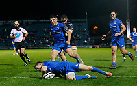 1st November 2019; RDS Arena, Dublin, Leinster, Ireland; Guinness Pro 14 Rugby, Leinster versus Dragons; Hugh O'Sullivan of Leinster scoring a try - Editorial Use