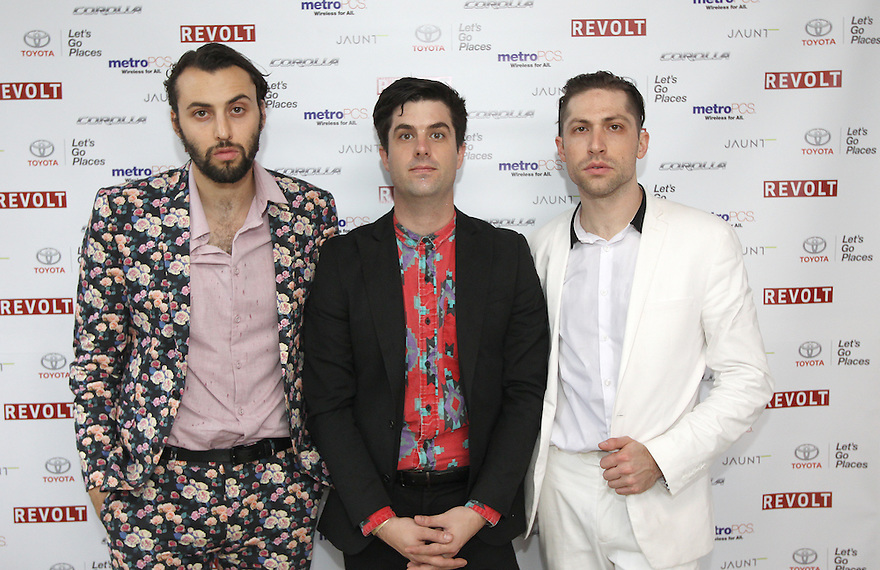 "Minni Mansion, from left, Zach Dawes, Tyler Parkford and Michael Shuman poses for a picture at the ""REVOLT Block Party presented by Toyota #MakeYourMark"" during SXSW Music on Friday, Mar. 20, 2015 in Austin, Texas."