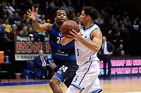 GRONINGEN - Basketbal, Donar - Landstede Zwolle, Halve finale Beker, seizoen 2019-2020, 13-02-2020,  Donar speler Leon Williams met Landstede speler Martinez Walker