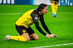 05.11.2019, Signal Iduna Park, Dortmund , GER, Champions League, Gruppenphase, Borussia Dortmund vs Inter Mailand, UEFA REGULATIONS PROHIBIT ANY USE OF PHOTOGRAPHS AS IMAGE SEQUENCES AND/OR QUASI-VIDEO<br /> <br /> im Bild | picture shows:<br /> Enttaeuschung bei Nico Schulz (Borussia Dortmund #14) nach Torchance, <br /> <br /> Foto © nordphoto / Rauch