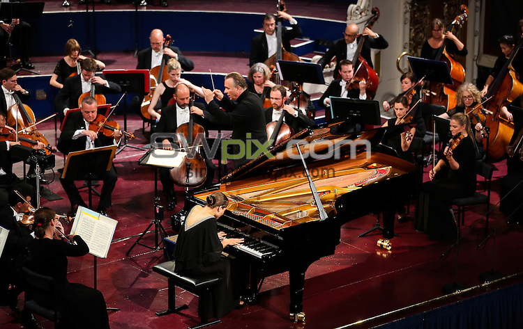Picture by Alex Whitehead/SWpix.com - 12/09/2015 - Leeds International Piano Competition Final - Leeds Town Hall, Leeds, England - Anna Tcybuleva wins first prize in the Leeds International Piano Competition 2015.