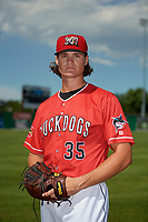 Batavia Muckdogs Tyler Kolek (35) poses for a photo before a NY-Penn League game against the West Virginia Black Bears on June 26, 2019 at Dwyer Stadium in Batavia, New York.  Batavia defeated West Virginia 4-2.  (Mike Janes/Four Seam Images)