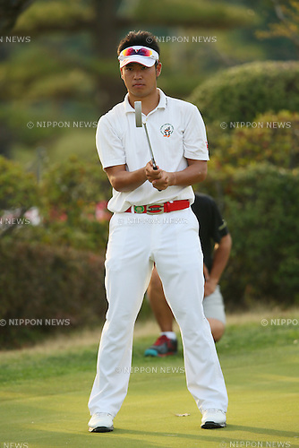 Hideki Matsuyama (JPN), .APRIL 18, 2013 - Golf : .21st Japan Golf Tour Token Homemate Cup 2013 .First Round .at Token Tado Country Club Nagoya, Mie, Japan. .(Photo by YUTAKA/AFLO SPORT)