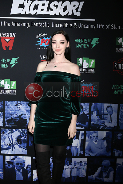 """Emma Dumont<br /> at """"Excelsior! A Celebration of the Amazing, Fantastic, Incredible & Uncanny Life of Stan Lee,"""" TCL Chinese Theater, Hollywood, CA 01-30-19<br /> David Edwards/DailyCeleb.com 818-249-4998"""