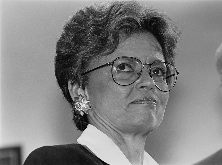 Mayor Sharon Pratt Kelly, D-D.C., in April 1992. (Photo by Laura Patterson/CQ Roll Call via Getty Images)