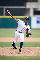 Detroit Tigers pitcher Xavier Javier (53) delivers a pitch during an Instructional League game against the Toronto Blue Jays on October 12, 2017 at Joker Marchant Stadium in Lakeland, Florida.  (Mike Janes/Four Seam Images)