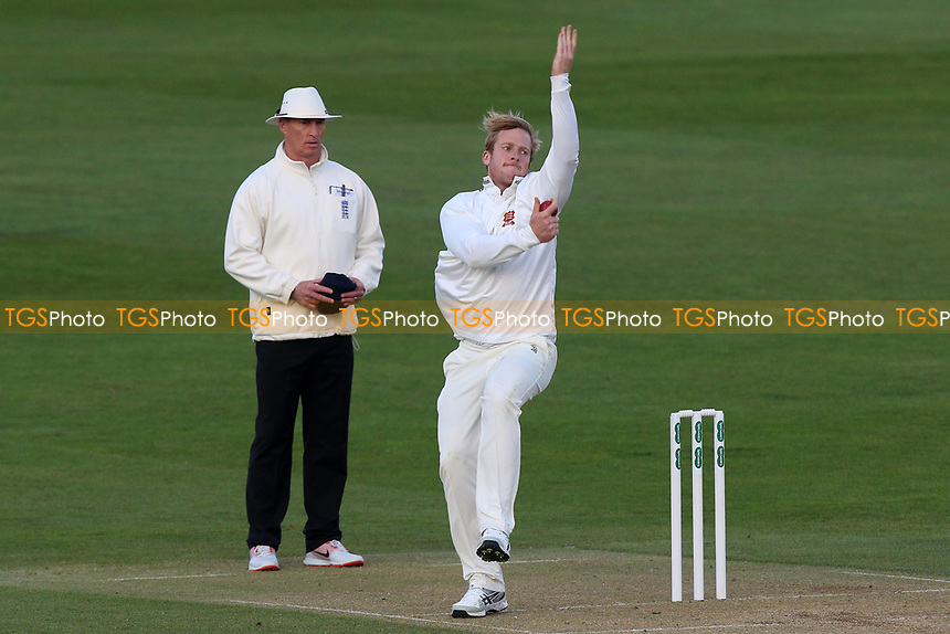 Simon Harmer in bowling action for Essex during Essex CCC vs Durham MCCU, English MCC University Match Cricket at The Cloudfm County Ground on 2nd April 2017