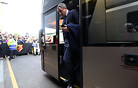 Swansea City manager Paul Clement arrives at Vicarage Road Stadium prior to kick off of the Premier League match between Watford and Swansea City at Vicarage Road Stadium, Watford, England, UK. Saturday 15 April 2017