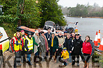 Boat Launch in memory of Cian O'Donoghue at Dundag Boat House last Saturday. Pictured are l-r Dian Healy, Aideen Moynihan and Sinead Sweetman all from Killarney Water Rescue, Linda, Keith and Joanie O'Donoghue, cllr Niall Kelleher (Kerry County Council), Klara O'Donoghue, Billy O'Donoghue, John O'Loughlin (Killarney Water Rescue), Darren and Arlo Brosnan, Jimmy Sweetman (Killarney Water Rescue), John Draper (Irish Coast Guard) and Aisling O'Sullivan (Killarney Water Rescue).