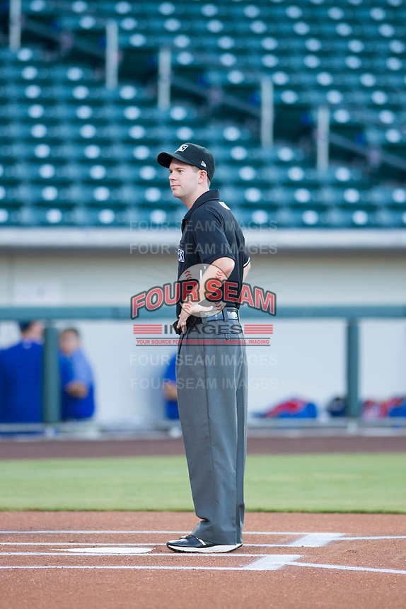 MiLB Umpire AJ Choc prior to the game between the AZL Diamondbacks and AZL Cubs on August 11, 2017 at Sloan Park in Mesa, Arizona. AZL Cubs defeated the AZL Diamondbacks 7-3. (Zachary Lucy/Four Seam Images)
