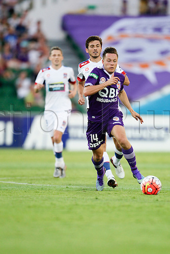 07.03.2016, Perth, Australia. Hyundai A-League, Perth Glory versus Newcastle Jets. Perth Glorys Chris Harold in action during the second half.